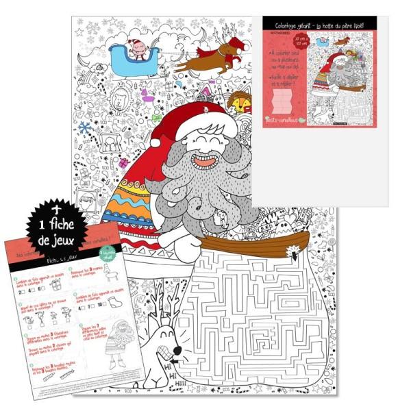Coloriage Geant Animaux.Coloriage Geant Enfant Pere Noel