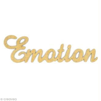 Mot Emotion en bois MDF