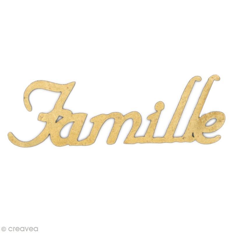 Mot famille en bois mdf mot en bois creavea for Mot decoratif cuisine