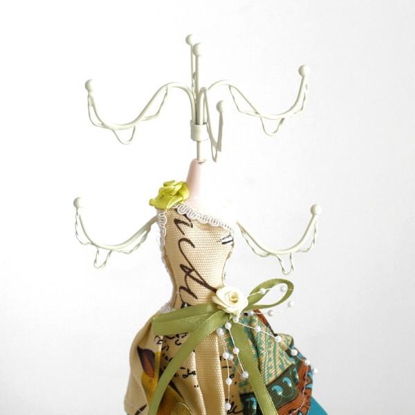 Poupée porte bijoux mixte robe multicolore Multicolore - Photo n°2