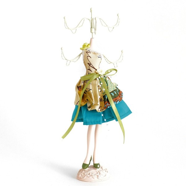 Poupée porte bijoux mixte robe multicolore Multicolore - Photo n°1