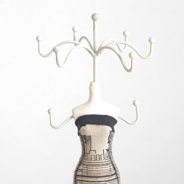 Poupée porte bijoux mixte robe de soirée Noir et blanc - Photo n°2