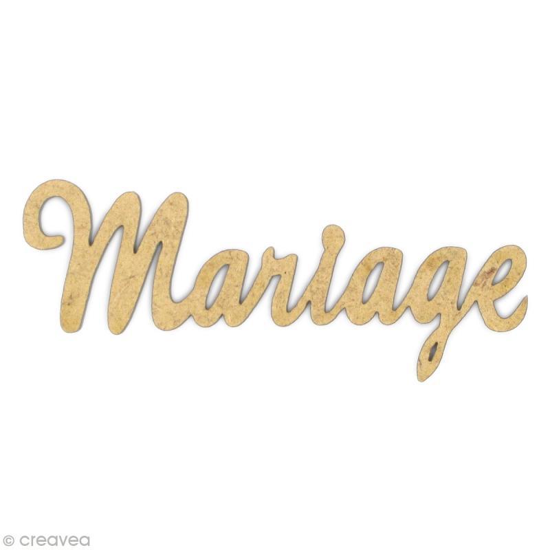 mot mariage en bois mdf mot en bois creavea. Black Bedroom Furniture Sets. Home Design Ideas