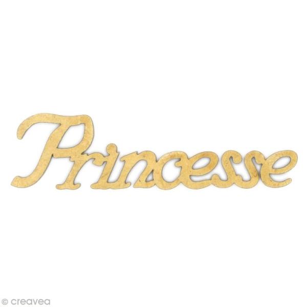 Mot Princesse en bois MDF - Photo n°1