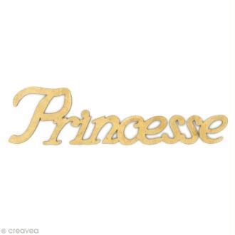 Mot Princesse en bois MDF