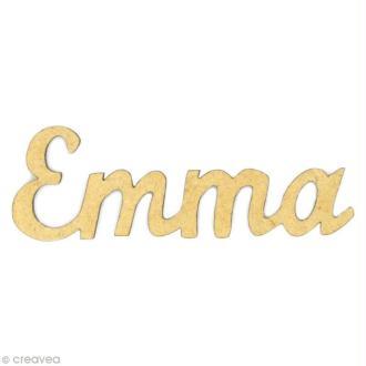 Prénom Emma en bois MDF