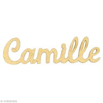 Prénom Camille en bois MDF