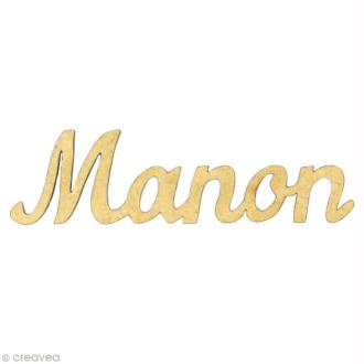 Prénom Manon en bois MDF