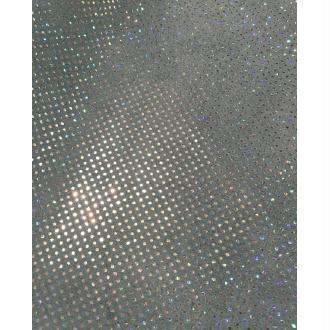 Morceaux de cuir bleu pois argenté