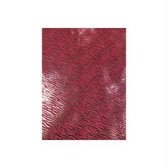 Morceaux de cuir rose motif argenté