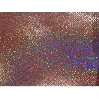 Morceaux de cuir rose holographique