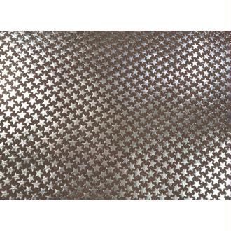 Morceaux de cuir gris violet étoiles
