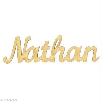 Prénom Nathan en bois MDF