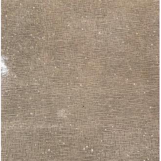 Morceaux de cuir vernis beige pailleté