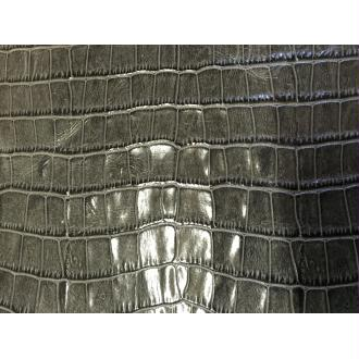 Morceaux de cuir gris imitation croco