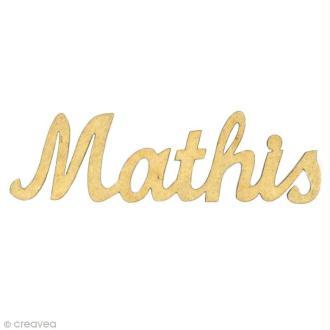 Prénom Mathis en bois MDF