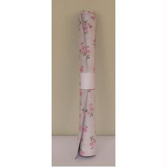 Morceaux de cuir blanc fleur rose