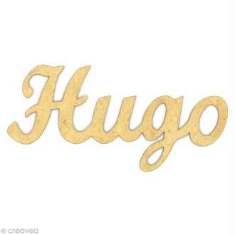 Prénom Hugo en bois MDF
