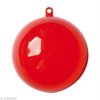 Boule plastique cristal rouge 7 cm