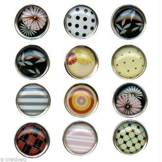 Mini magnet déco Motifs x 12