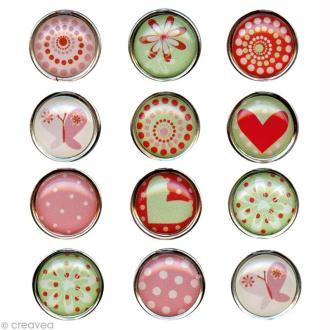 Mini magnet déco Amour x 12