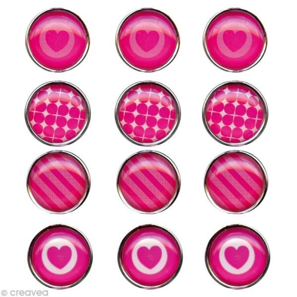 Mini magnet déco Rose x 12 - Photo n°1