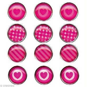 Mini magnet déco Rose x 12