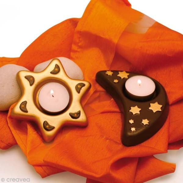 Moule thermoformé Photophore étoile et lune x 2 - Photo n°2