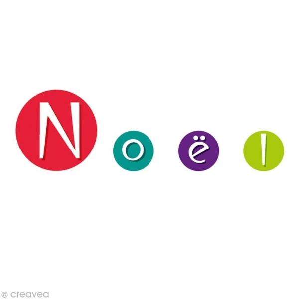 Gommettes autocollantes Alphabet multicolore x 594 - Photo n°4