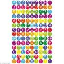 Gommettes autocollantes Alphabet multicolore x 594 - Photo n°3