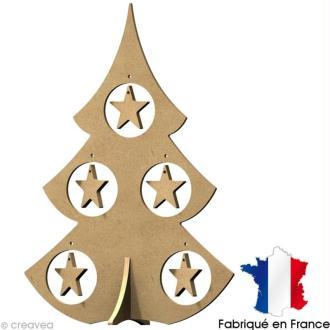 Sapin de Noël en bois à décorer - 38 cm