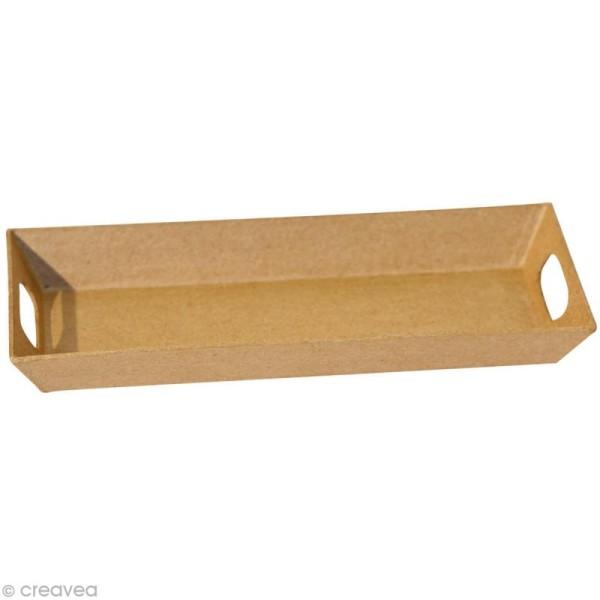 Plateau rectangulaire en papier mâché - Moyen modèle - Photo n°1