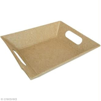 Plateau rectangulaire en papier mâché - Petit modèle