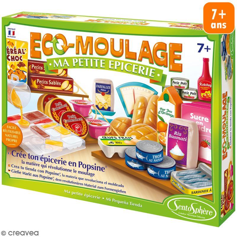 Coffret Eco-moulage Popsine - Ma petite épicerie - Photo n°1