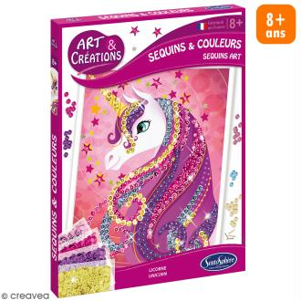 Jeu Art & Créations - Sequins & colours - Licorne
