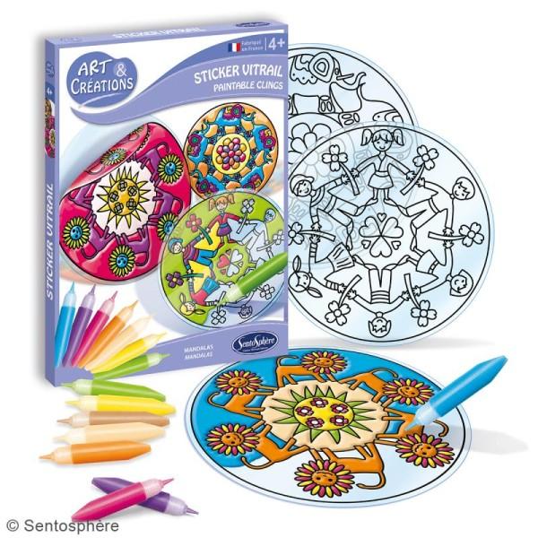 Coffret Art Creations Kit Stickers Vitrail Mandalas Jeux Creatifs De 2 A 5 Ans Creavea
