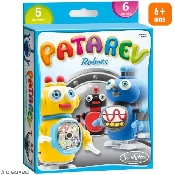 Coffret Pâte à modeler Patarev - Robots - Photo n°1