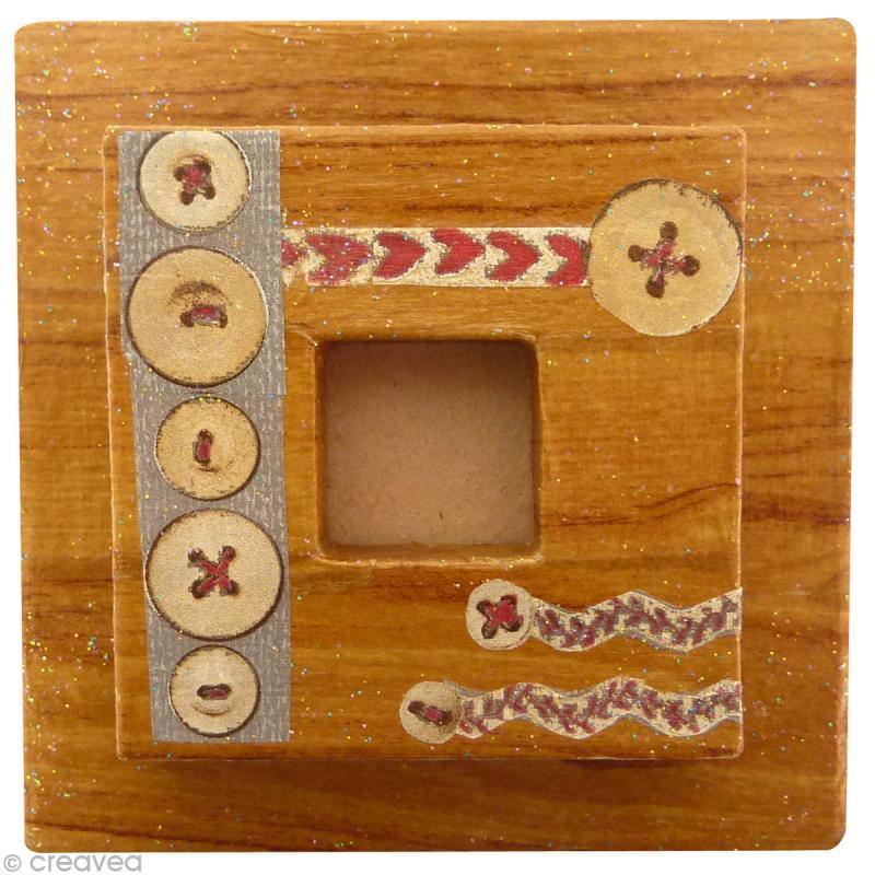 cadre photo carr petit mod le 8 5 cm cadre photo d corer creavea. Black Bedroom Furniture Sets. Home Design Ideas