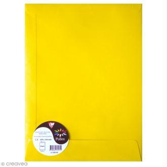 Enveloppe Pollen 229 x 324 - 120 g - Jaune soleil - 5 pcs