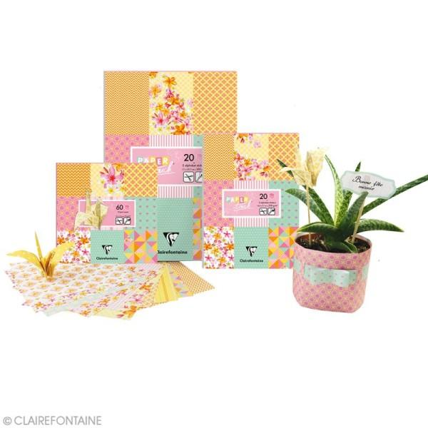 Papier scrap Clairefontaine - Bloc A4 Paper Touch Printemps - 20 pcs - Photo n°2