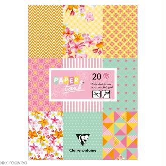 Papier scrap Clairefontaine - Bloc A5 Paper Touch Printemps - 20 pcs