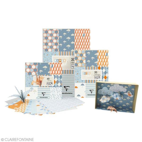 Papier scrap Clairefontaine - Bloc A4 Paper Touch Pluie - 20 pcs - Photo n°2