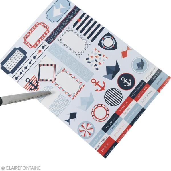 Papier scrap Clairefontaine - Bloc A4 Paper Touch Marin - 20 pcs - Photo n°3