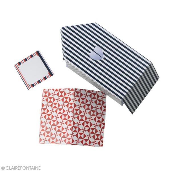 Papier scrap Clairefontaine - Bloc A4 Paper Touch Marin - 20 pcs - Photo n°4