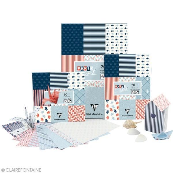 Papier scrap Clairefontaine - Bloc A4 Paper Touch Marin - 20 pcs - Photo n°6