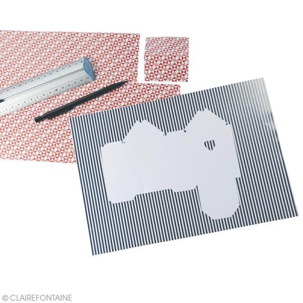 Papier scrap Clairefontaine - Bloc A5 Paper Touch Marin - 20 pcs - Photo n°2