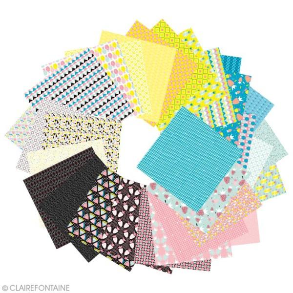 Papier origami Paper Touch - 15 x 15 cm - Fruits géométriques - 60 feuilles - Photo n°3