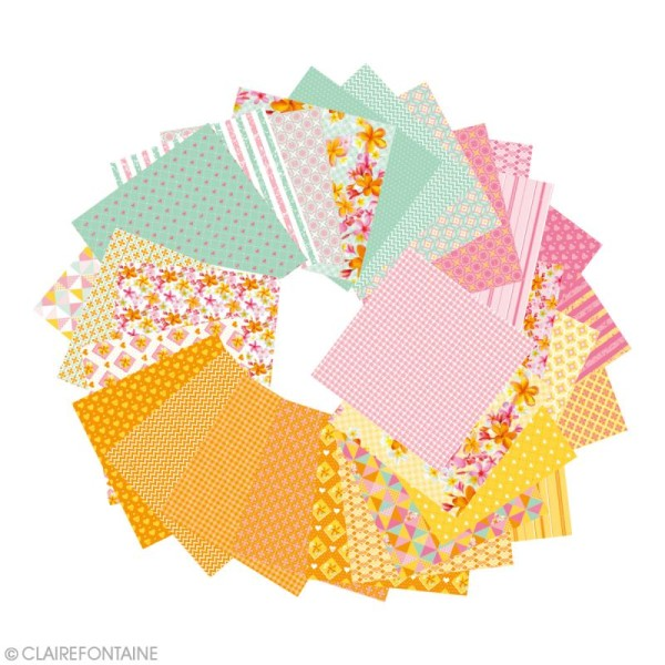 Papier origami Paper Touch - 15 x 15 cm - Printemps - 60 feuilles - Photo n°3