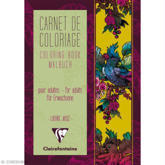 Carnet de coloriage A5 pour adulte - Tapisserie - 18 pages