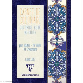 Carnet de coloriage A5 pour adulte - Mediterranée - 18 pages